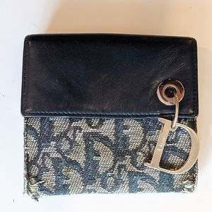 DIOR Small Saddle Wallet with Charm